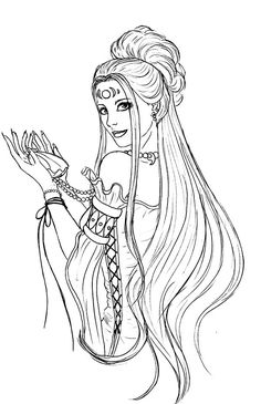 Image Result For Art Nouveau Mermaid Coloring Page Art Nouveau In