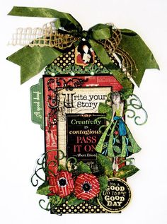 Typography tag by Maggi Harding. Stunning work #graphic45 #tag
