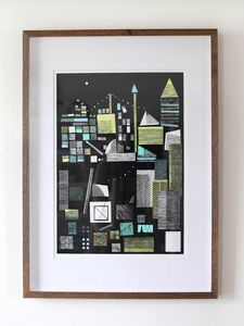 Hannah Waldron: Cityscape screen print