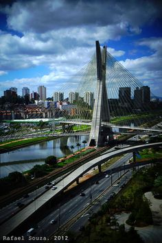 Ponte Octávio Frias, Sao Paulo - Brazil - A masterpiece of design and engineering in the heart of São Paulo