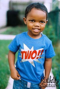 Ka-Pow Birthday Number T-shirt - Superhero Birthday Shirt - Can be customized for any age. on Etsy, $25.00