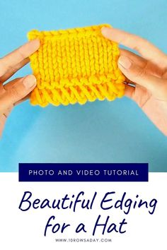 Easy Knitting Patterns, Knitting Stitches, Free Knitting, Crochet Patterns, Start Knitting, Knitting Videos, Knitting For Beginners, Knitting Projects, Knit Edge