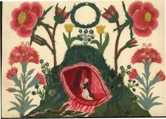 Needlework done by Marianne Von Watteville ca. 1750. Collection of Moravian Archives, Herrnhut, Germany.