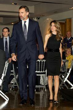 04 October 2013 Prince Felipe and Princess Letizia attend the Liber 2013 dinner…
