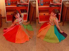 Colorwheel Skirt by Manic Pop