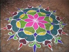 Tamil Cultural Kolam: Marriage Kolam
