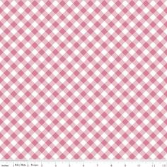 Gingham in pink from the Wonderland two 2 collection by Melissa Mortenson of Polka dot chair for Riley Blake blender by janum on Etsy https://www.etsy.com/listing/490124458/gingham-in-pink-from-the-wonderland-two