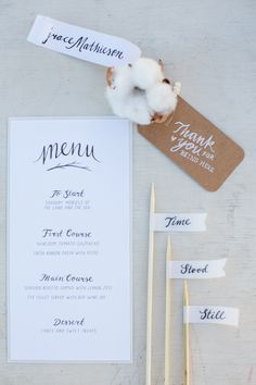 stationery + flags // photo by Bubblerock // http://ruffledblog.com/bordeaux-beach-wedding-inspiration