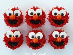 These Elmo cupcakes would be DARLING for your little Sesame Street fan! Ms. Fox's Sweets: Elmo Cupcakes