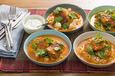 Tandoori Chicken & Brown Rice with Coconut-Tomato Broth & Mint Yogurt