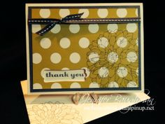 "Super simple card! ""Regarding Dahlias"", Stampin' Up!"