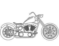 Harley-Davidson Coloring Pages to Print | Motorcycles, : Awesome Harley Davidson Motorcycle Coloring Page