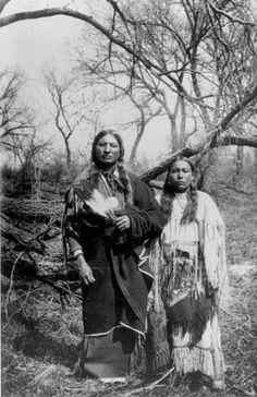 Ahpeatone (aka Apiatan, aka Wooden Lance) and his wife - Kiowa - circa 1910