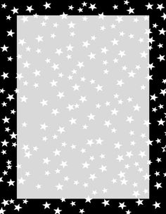 Red and White Stars Border Printable Border, Red Pages, Stars Classroom, Boarders And Frames, Free Printable Stationery, Borders Free, Page Borders Design, Scrapbook Frames, Black And White Stars