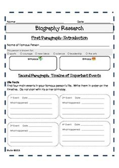 Biography Project {Grades 2-5} | Pinterest | Biography project, King ...