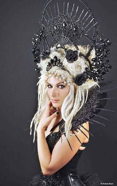 Lady Gaga Costume, Costume Accessories, Hair Accessories, Cosplay Horns, Gothic Crown, Mardi Gras Costumes, Fairy Costumes, Mannequin Art, Gothic Hairstyles