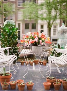 rustic chic spring wedding decorations/ floral spring wedding decorations