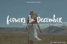 Flowers In December Font Duo Fonts **A new fresh handmade modern font. Very suitable for greeting cards, branding materials, business by Mellow Design Lab Calligraphy Fonts, Script Fonts, Letter Fonts, Handwriting Fonts, Serif Font, Sans Serif, Texture Web, Nights In White Satin, Professional Fonts