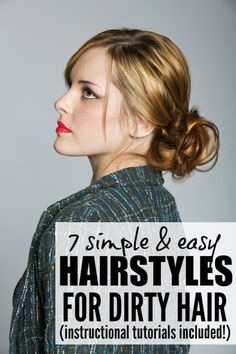 Don't have time to shampoo your hair, but still want to look glam? Me too! And that's why I love this collection of easy, sexy, and stylish hair updos for dirty hair. Who knew dirty hair styles could be so fashionable??!