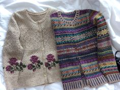 Two cardigans I've knitted lately - Birgitta and Orkney. Hand Knitted Sweaters, Cool Sweaters, Harry Potter Knit, Fair Isle Knitting Patterns, Sweater Patterns, Mourning Dove, Hippie Style, Hand Knitting, Knitwear