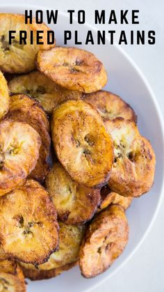 How to Make Fried Sweet Plantains (Maduros) - an easy tutorial that includes everything you need to know about selecting and frying plantains. This easy recipe is a delicious side dish! #paleo #whole30 #plantains #fried #maduros #cuban #puertorican #southamerican #sidedish Good Healthy Recipes, Get Healthy, Healthy Eating, Most Popular Recipes, Your Recipe, Bagel, The Help, Fries, Side Dishes