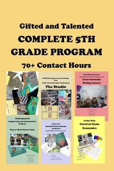 "5th and 6th grade ... GATE program--all tried and tested, Common Core Standards based, and successfully implemented using best practices in gifted education.  You get 264 pages of materials guaranteed to produce 70+ hours of contact time throughout the school year (conservative estimate) including three full units, a STEM construction activity, two of my popular ""Friday Math"" series lessons, and a literature-based social-emotional lesson."