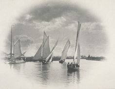 Peter Henry Emerson (Cuba, 1856 - 1936)  A Sailing Match at Horning, 1886  Photograph, Platinum print, Unframed: 11 3/8 x 16 1/4 in. (28.9 x 41.28 cm)  Gift of Sue and Albert Dorskind (AC1996.165.233)  Photography Department. LACMA
