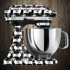 dachshund white Kitchen aid mixer decals