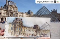 Produktif! Regram from @artyan_trihandono #livesketch at #louvremuseum #architecture #urbansketchers #arch_sketch #france #paris #sketchwalker