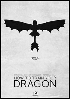 How To Train Your Dragon - minimal poster    by Mads Hindhede Svanegaard