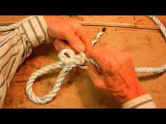 """Easy To Follow"" - How To Tie An Eye Splice In 3 Strand Rope - YouTube"