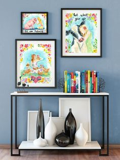 Set of 2 Rabbit Print Peekaboo Rabbit Rabbit Wall Art Nursery Decor, Wall Decor, Wall Art, Dog Pop Art, Cow Art, Large Bedroom, Blue Art, Boho Decor, Printables