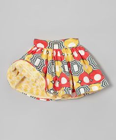Take a look at this Orange & Yellow Reversible Circle Skirt - Infant, Toddler & Girls by Ava Loves Olli on #zulily today!