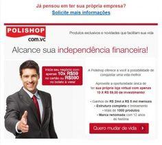 Como ganhar dinheiro. Empreendedor Polishop - Oportunidade de ganhar dinheiro, trabalho em casa.