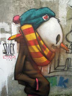 #StreetArt #UrbanArt - Etam Crew / Sainer