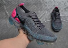 ea054bb289f83 Beautiful Nike Air VaporMax Flyknit 2 White Hydrogen Blue Pink 942843 102  Womens Running Shoes Trainers 942843--102