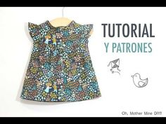 DIY Cómo hacer vestido para niñas (patrones gratis incluidos) - YouTube