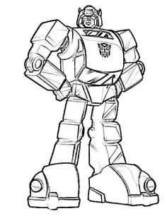 Transformers Coloring Pages Bumblebee | Coloring Pages | Pinterest ...