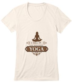 Discover Loving Yoga [Limited Edition] Long Sleeve T-Shirt from Qmax TeeSky, a custom product made just for you by Teespring. - I Fell In Love With Doing Yoga Do Love, I Fall In Love, Falling In Love, How To Do Yoga, Just For You, Mens Tops, T Shirt, Namaste, Exercises