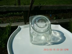 Vintage Antique Glass Apothecary Jar With Lid