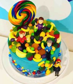 The Wiggles Party Food Ideas Bonus Recipe - Mumspo Mag Wiggles Birthday, Wiggles Party, Wiggles Cake, The Wiggles, 2 Year Old Birthday Cake, 2nd Birthday, Birthday Ideas, Chocolate Coins, Chocolate Mix