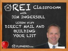 In the classroom today, Jim Ingersoll remarks on the importance of targeting your marketing to specific buyers, depending on what type of home you're looking for (Fix and Flip, Wholesale, Rentals, Etc.).
