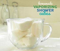 Vaporizing Shower Cubes