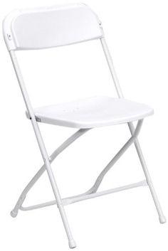 Premium White Plastic Folding Chair by Skyline 800 lb Compacity - Set of 10