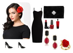 """""""Untitled #35"""" by namka88 ❤ liked on Polyvore featuring MaxMara, Gunne Sax By Jessica McClintock, OPI, Victoria's Secret, Disney and 1st & Gorgeous by Carolee"""