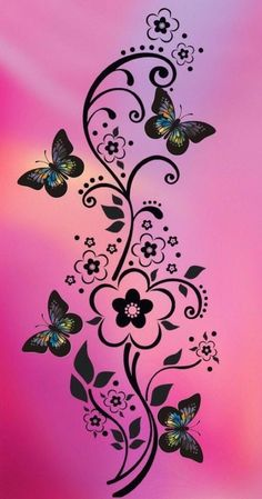 super Ideas for funny wallpapers pink Butterfly Wallpaper, Butterfly Flowers, Pink Wallpaper, Beautiful Butterflies, Wallpaper Backgrounds, Gothic Wallpaper, Butterfly Background, Purple Butterfly, Pretty Wallpapers