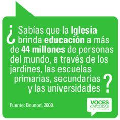 """Pieza EDUCACION de la campaña viral """"¿Sabías que?"""" para Voces Católicas Argentina."""