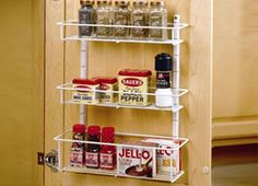 ClosetMaid has plenty of accessories, especially to attach to doors to create additional pantry storage.