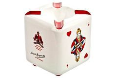 French Porcelain Playing Card Ashtray