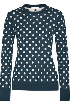 Shop on-sale Equipment Shane polka-dot intarsia-knit silk sweater. Browse other discount designer Knitwear & more on The Most Fashionable Fashion Outlet, THE OUTNET.COM